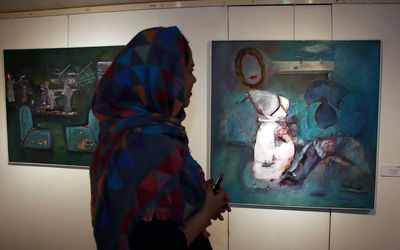 See Fariba Gorjian Paintings in Seyhoun Gallery