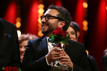 Alonso Ruizpalacios winner of the Silver Bear for Best Script for _Museo_ is seen on stage at the closing ceremony during the 68th Berlinale International Film Festiva