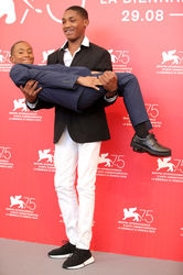 098 Actors Kevin Goodman and Titus Turner attend _What You Gonna Do When The World_s On Fire_ photocall during the 75th Venice Film Festival