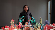 See Dorsa Asadi Ceramic Works in Azad Art Gallery