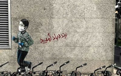 Graffiti art brightens Tehran with images of hope and life