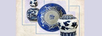 Moghadam museum shows white, blue potteries