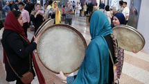 Daf, Dom Dom percussions unveiled at Milad Tower