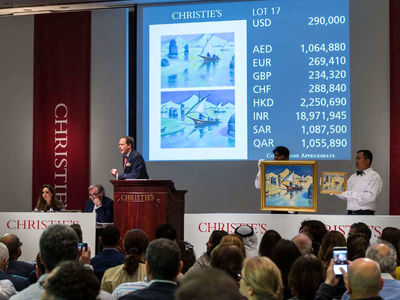 Christie's Auctions in Dubai:  Iranian art reach new heights