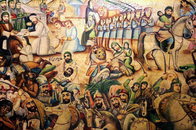 Teahouse painting exhibition explores Battle of Karbala