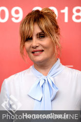 03 Emmanuelle Seigner attends _At Eternity_s Gate_ photocall during the 75th Venice Film Festival