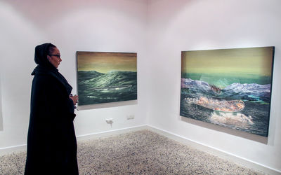 Mohammad Abbasi Opens Painting Exhibition