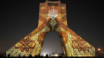Flight of Light and Pen over the Azadi Tower
