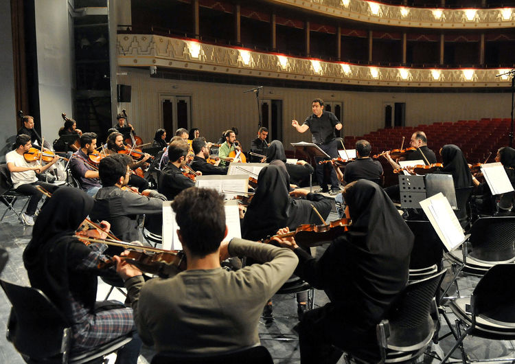Iran's National Orchestra Rehearses for Oct. 23, 24 Concerts