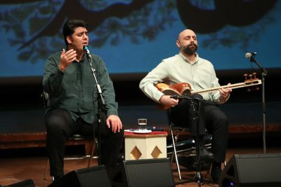 Naghsh went on stage on the fourth night of an online instrumental music concert