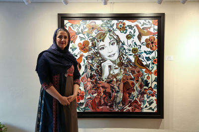 Tara Behbahani says her new paintings dig up moments of happiness from heart of history